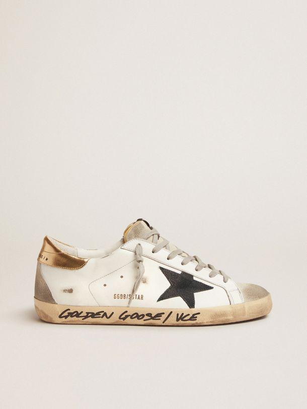Golden Goose - Super-Star LTD sneakers with gold heel tab and handwritten lettering in