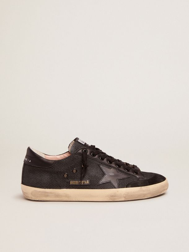 Golden Goose - Super-Star Penstar sneakers in black mesh and leather in
