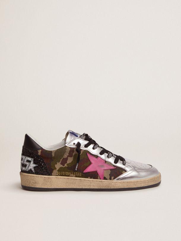 Golden Goose - Sneaker Ball Star LTD con stampa camouflage e stella fucsia in