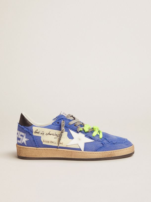 Golden Goose - Dream Maker Collection blue Ball Star sneakers in canvas and adhesive tape on the side in