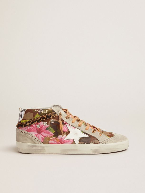 Golden Goose - Mid Star sneakers with camouflage and floral pattern in