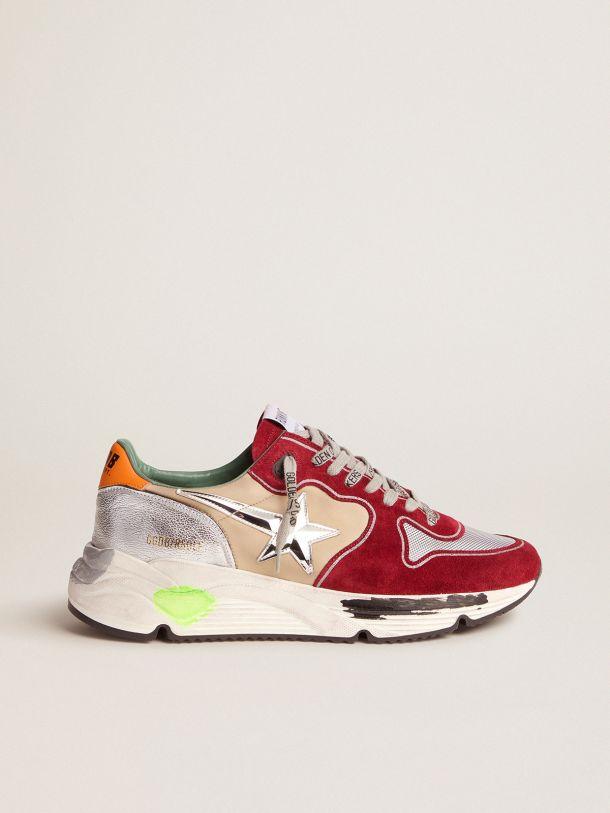 Golden Goose - Sneakers Running Sole avec étoile tridimensionnelle et contrefort orange in