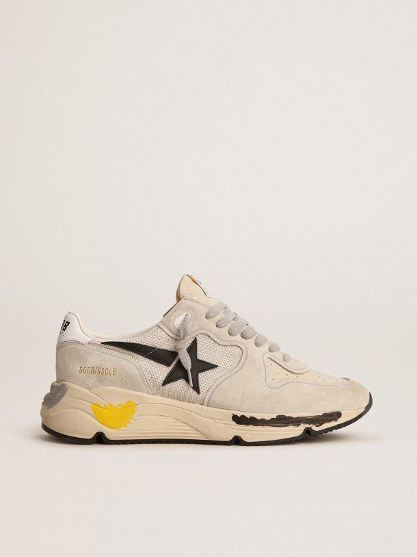 Golden Goose - Zapatillas deportivas Running Sole de malla y ante color gris hielo in