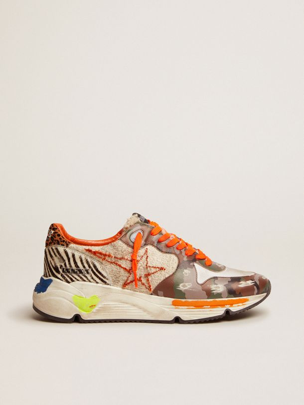 Golden Goose - Running Sole sneakers with multi-print upper in