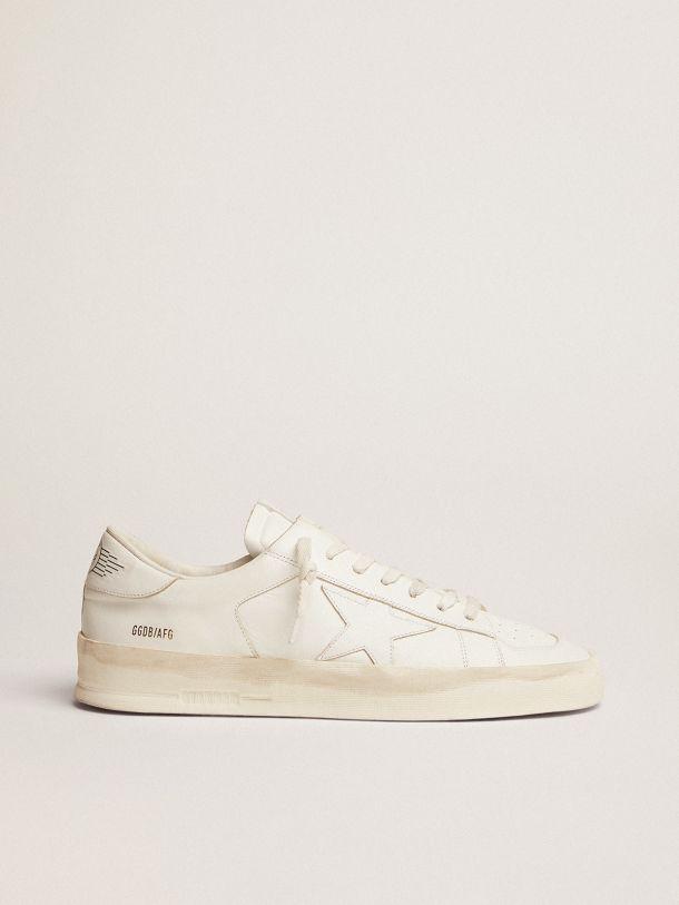 Golden Goose - Sneakers Stardan en cuir total white in