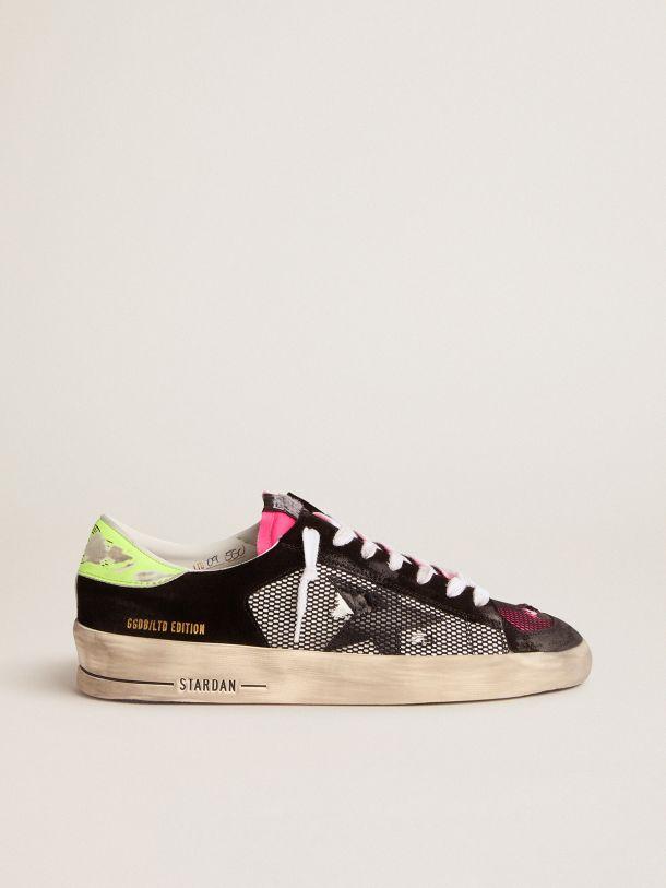 Golden Goose - Sneaker Stardan Limited Edition fucsia e gialle in