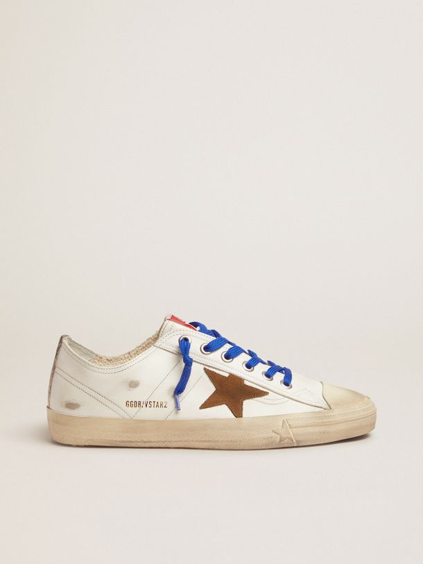 V-Star sneakers LTD with snake-print vertical strip and blue laces