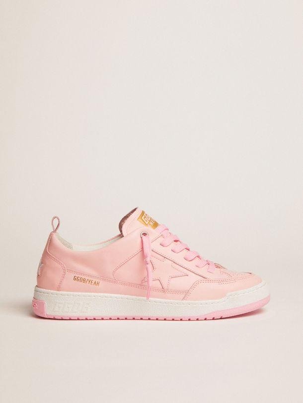 Golden Goose - Sneaker Yeah in pelle rosa chiaro in