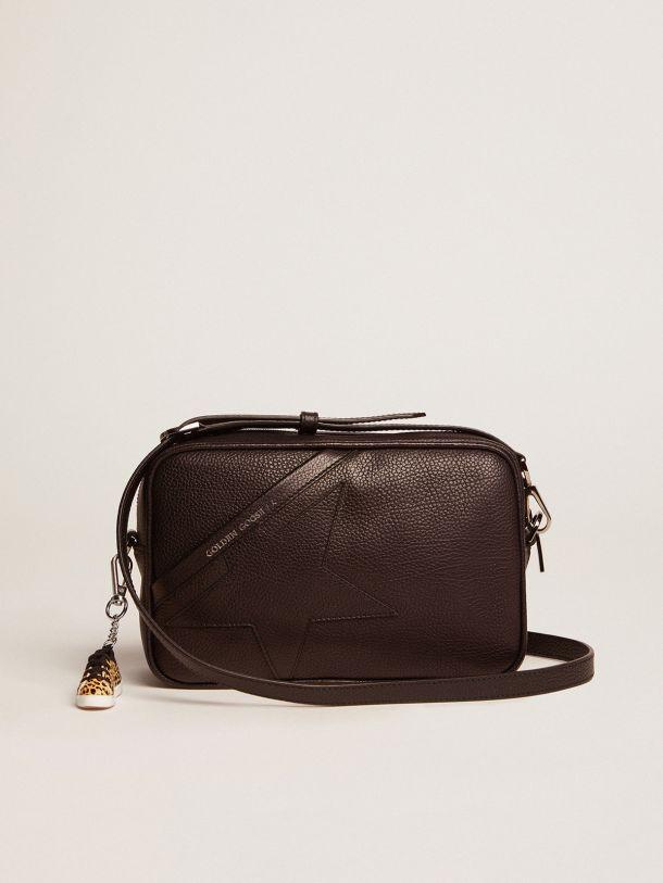 Golden Goose - Black Star Bag made of hammered leather in