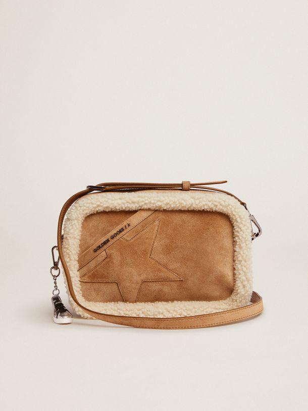 Golden Goose - Star Bag, 스웨이드 가죽 및 시어링 프로필 in