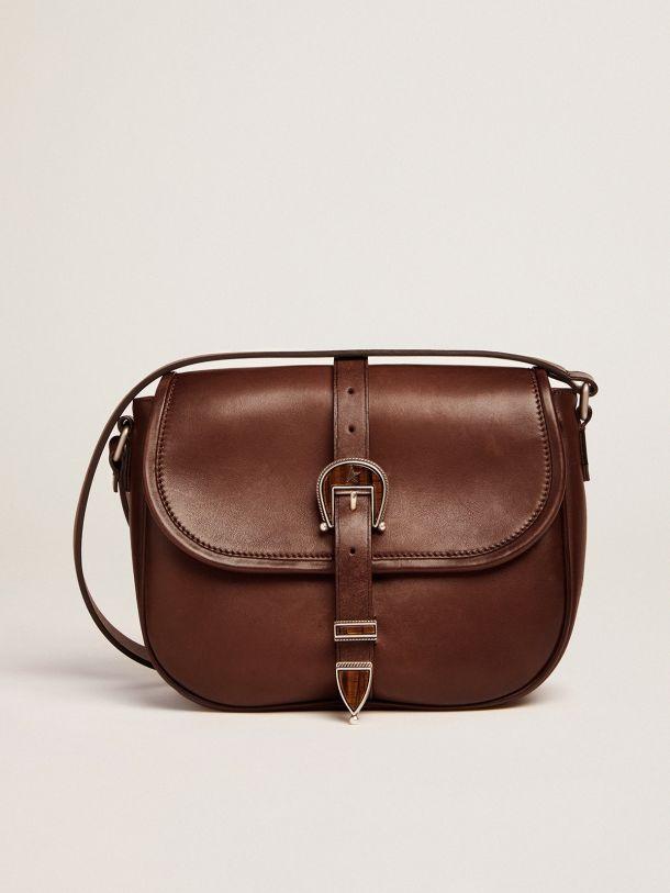 Golden Goose - Medium Rodeo Bag in dark tan leather   in