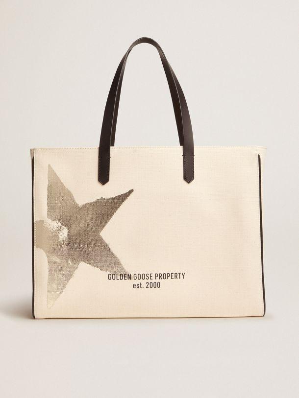 Golden Goose - East-West California Bag with Golden star print in