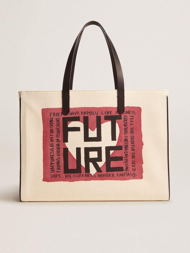 Golden Goose - Sac California Bag East-West avec imprimé «Future» in