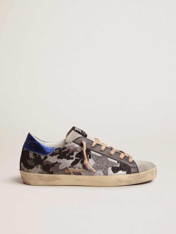Golden Goose - Camouflage Super-Star sneakers with glitter   in