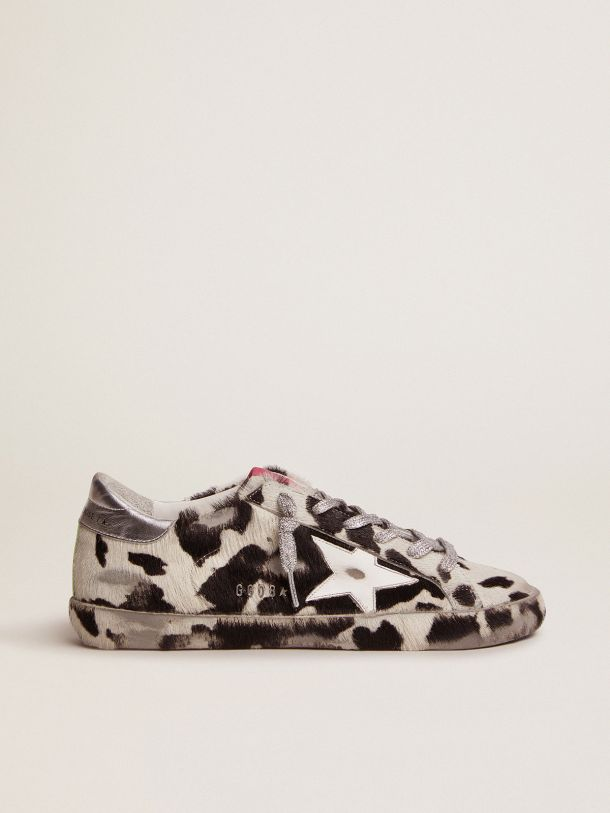 Golden Goose - Super-Star LAB sneakers in cow-print pony skin and white leather star in