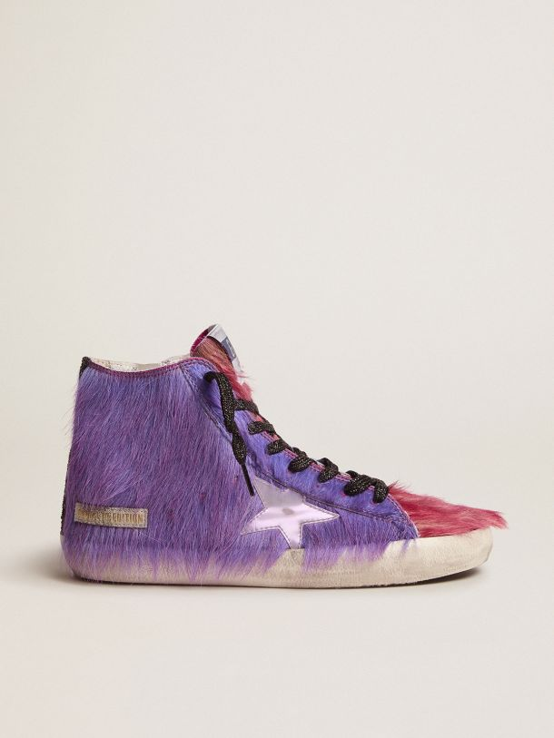 Golden Goose - Women's Limited Edition lilac and pink pony skin Francy sneakers in