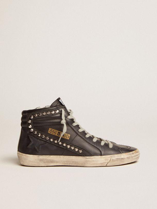 Golden Goose - Sneakers Slide con borchie applicate in