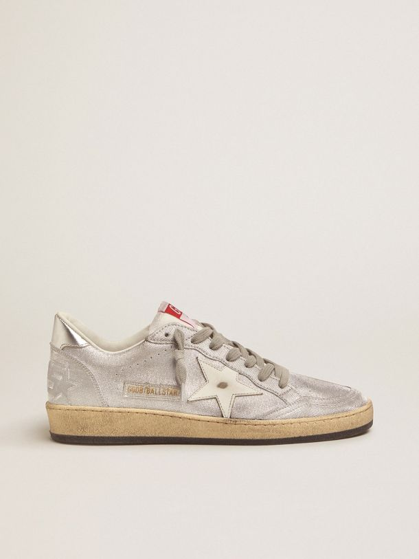 Golden Goose - Ball Star LTD sneakers in silver leather in