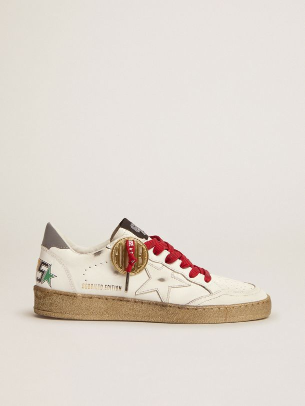 Golden Goose - Ball Star Game EDT Capsule Collection sneakers in white leather with multicolored lettering in