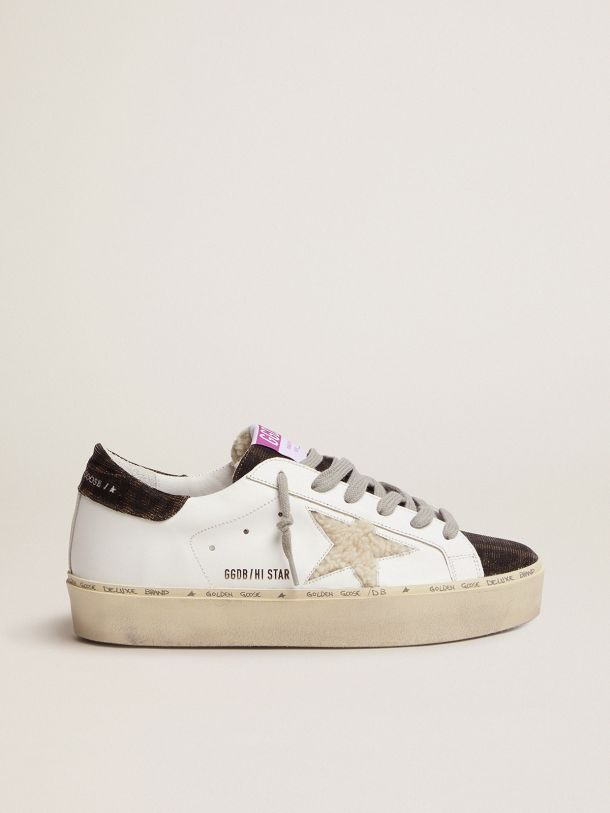 Hi Star sneakers with shearling star and leopard-print tongue