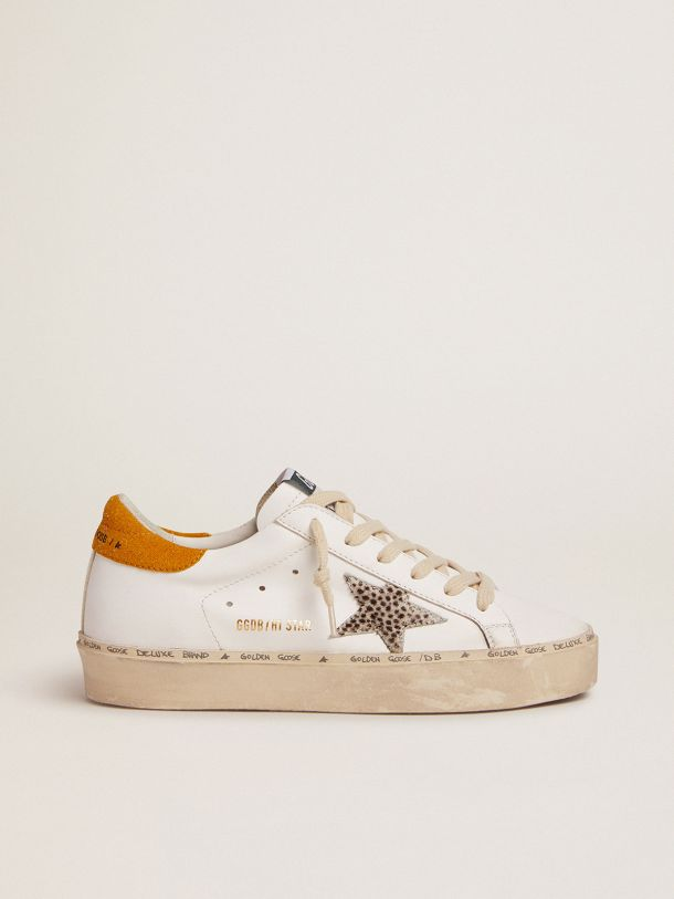 Golden Goose - Hi Star LTD sneakers with polka-dot pony skin star and suede heel tab in
