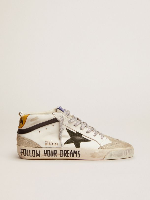 Golden Goose - Mid Star LTD sneakers with leather and suede upper and snake-print leather star in