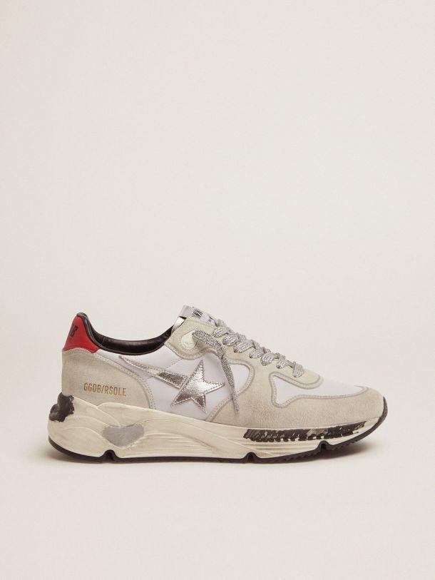 Golden Goose - Sneakers Running Sole con talloncino rosso e stella argento in