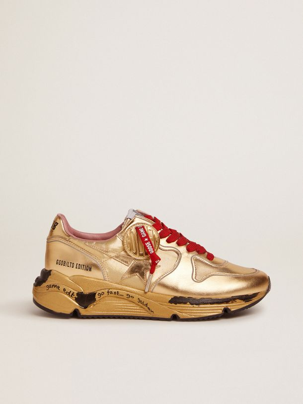 Golden Goose - Running Sole Game EDT Capsule Collection sneakers in gold lurex in