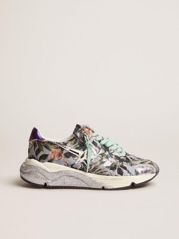 Golden Goose - Sneakers Running Sole avec tige en jacquard floral in