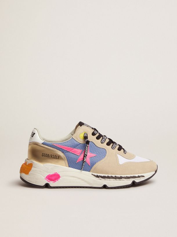 Golden Goose - Running Sole sneakers in suede with gold detail in
