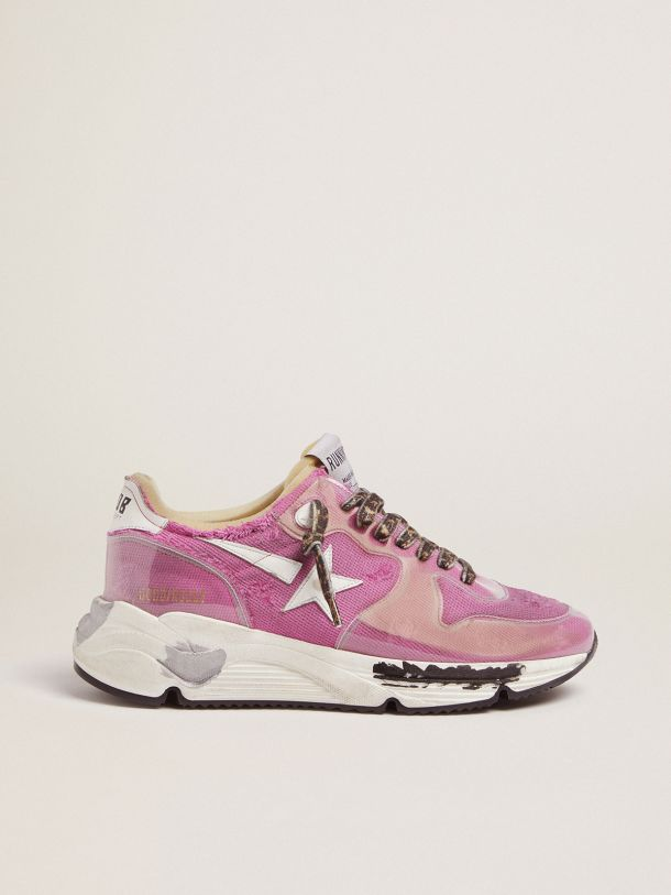 Golden Goose - Fuchsia Running Sole LTD sneakers with raw edges in