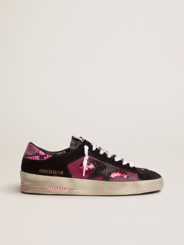 Golden Goose - Fuchsia and black Limited Edition LAB Stardan sneakers in