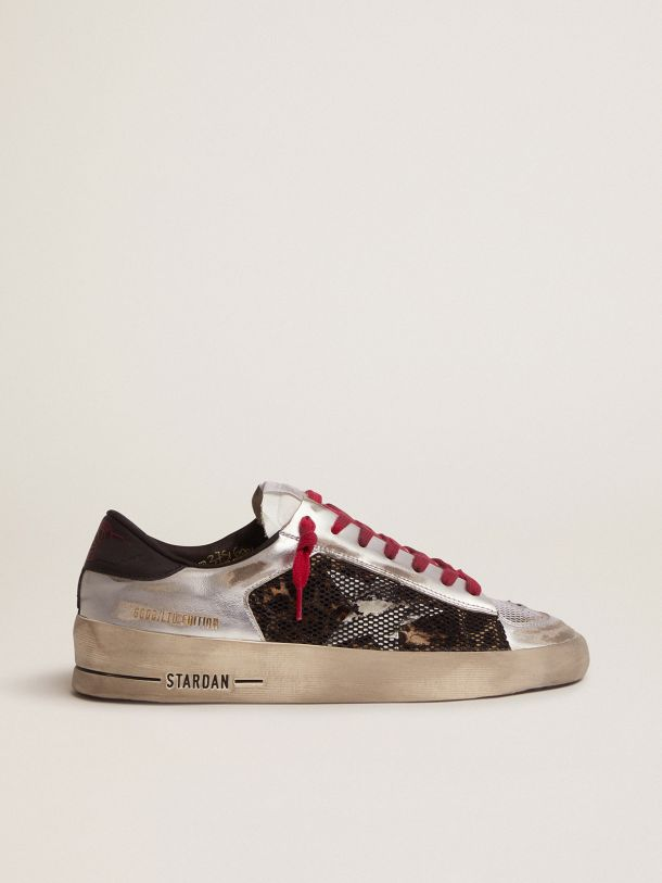 Golden Goose - Women's Limited Edition LAB silver and animal-print Stardan sneakers in