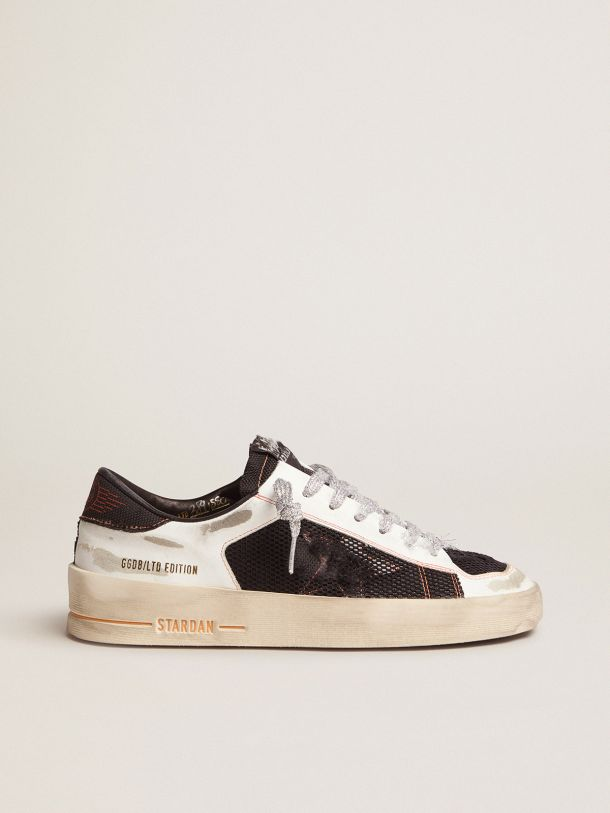 Golden Goose - White Limited Edition LAB Stardan sneakers with silver laces in