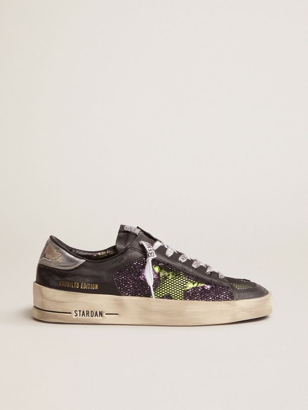Golden Goose - Women's LAB Limited Edition Stardan sneakers with glitter and fluorescent yellow details in