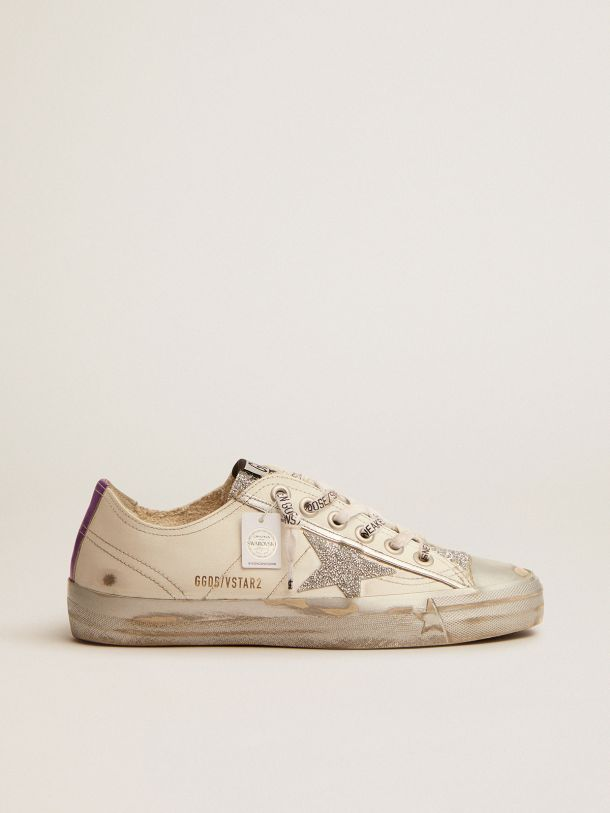 V-Star LTD sneakers in white leather and crystals