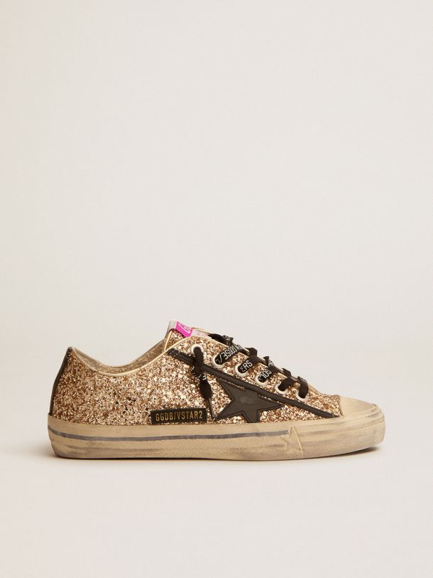 Sneaker V-Star LTD in glitter dorati con dettagli neri