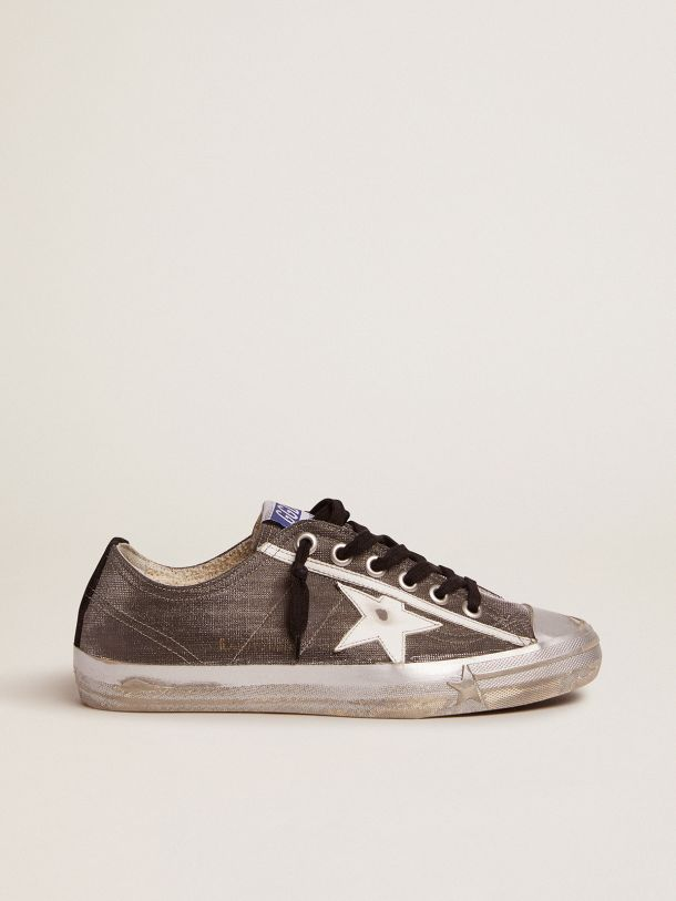 Dark gray V-Star LTD sneakers with checkered pattern and white star