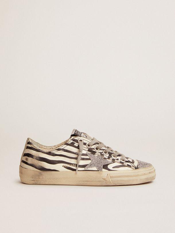 V-Star LTD sneakers in animal-print leather with Swarovski crystal star