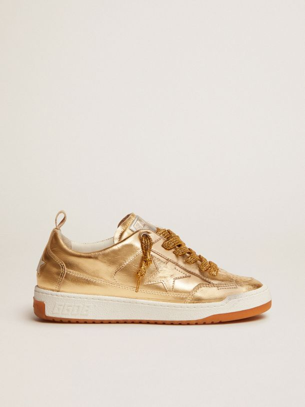 Golden Goose - Yeah sneakers in gold laminated leather in