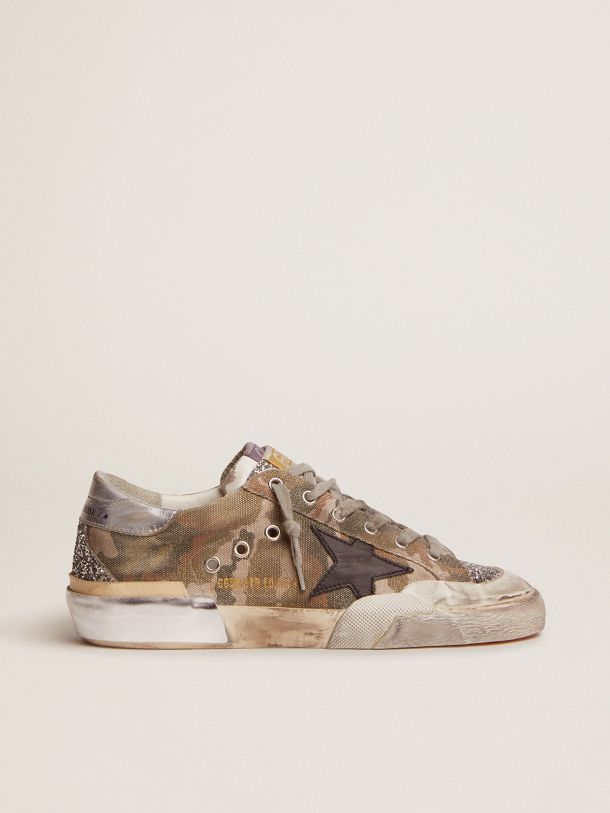 Golden Goose - Super-Star Penstar LAB sneakers in camouflage canvas with multi-foxing in
