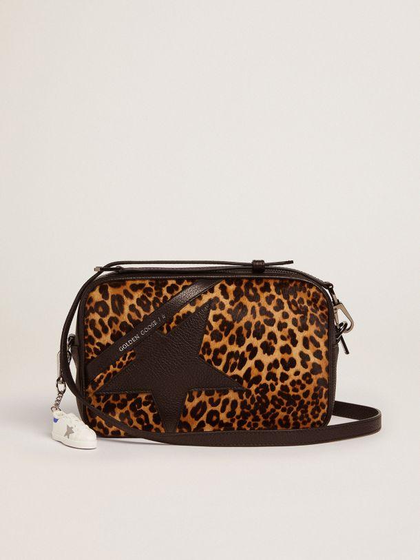Golden Goose - Star Bag in leopard-print pony skin in