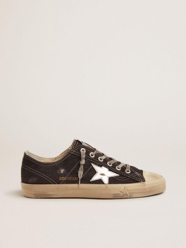Sneakers V-Star LTD in denim con stella e listino argento