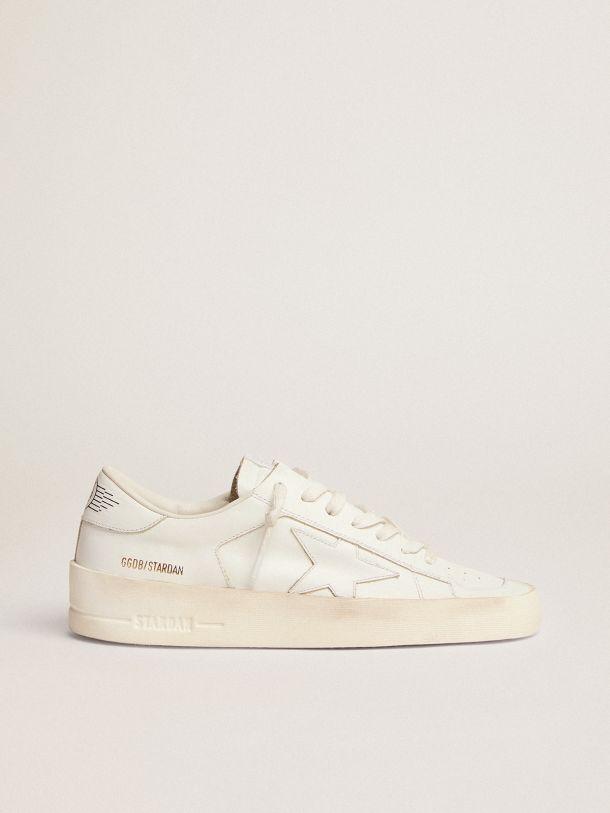 Golden Goose - Sneakers Stardan in pelle total white in