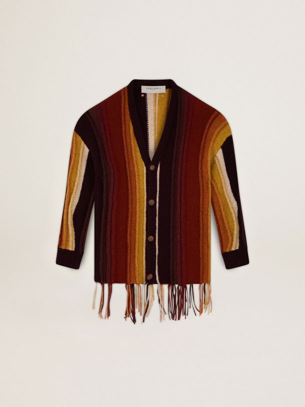 Golden Goose - Wool Journey Collection Danyal cardigan with stripe pattern in