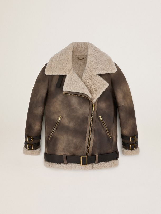 Golden Goose - Journey Collection Chelsey shearling jacket in