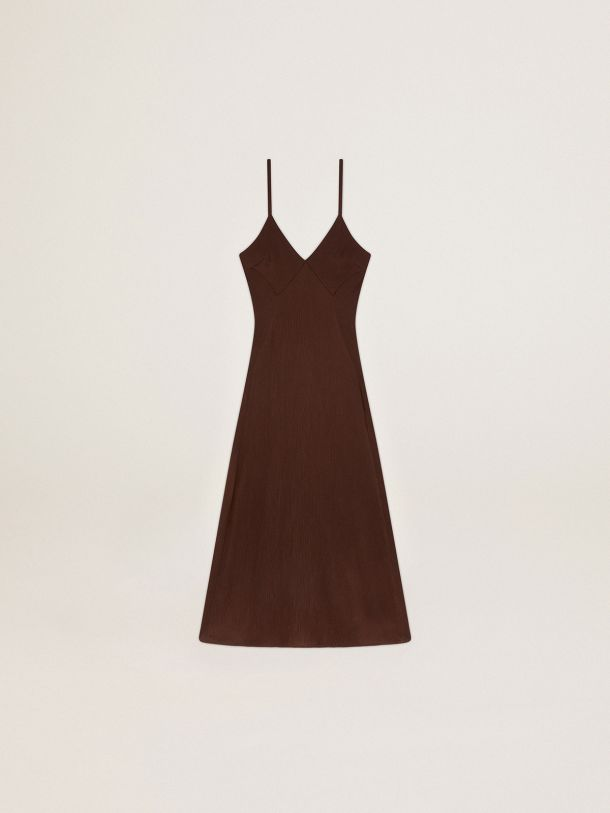 Journey Collection Daniela slip dress with 3D-effect pleats