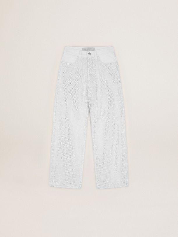 Golden Goose - Breezy denim jeans with rhinestones in