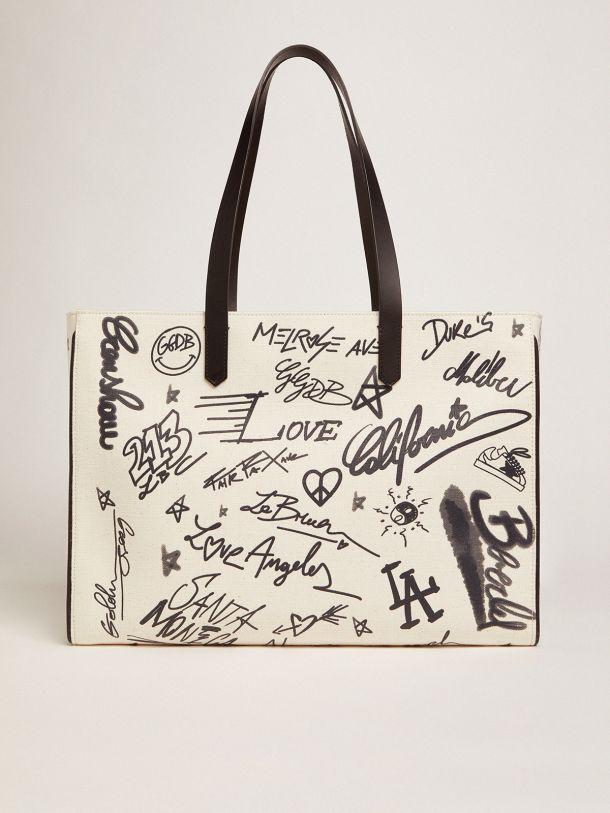 Golden Goose - Graffiti print East-West California Bag in