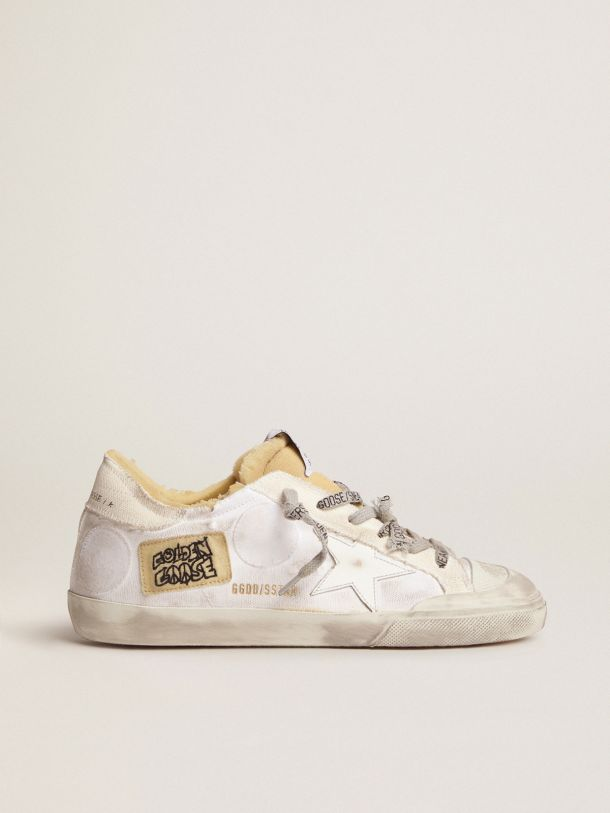 Golden Goose - Dream Maker Collection women's canvas Super-Star sneakers with side patch in